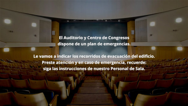 Plan emergencia auditorio Murcia