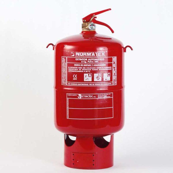 Extintor automático de 6 kg de polvo ABC