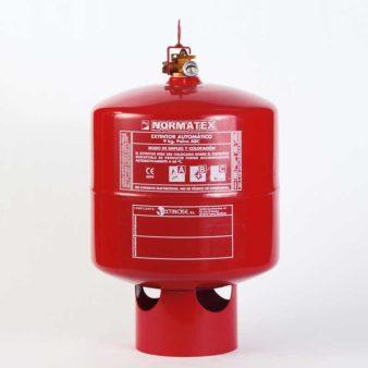 Extintor automático de 9 kg de polvo ABC
