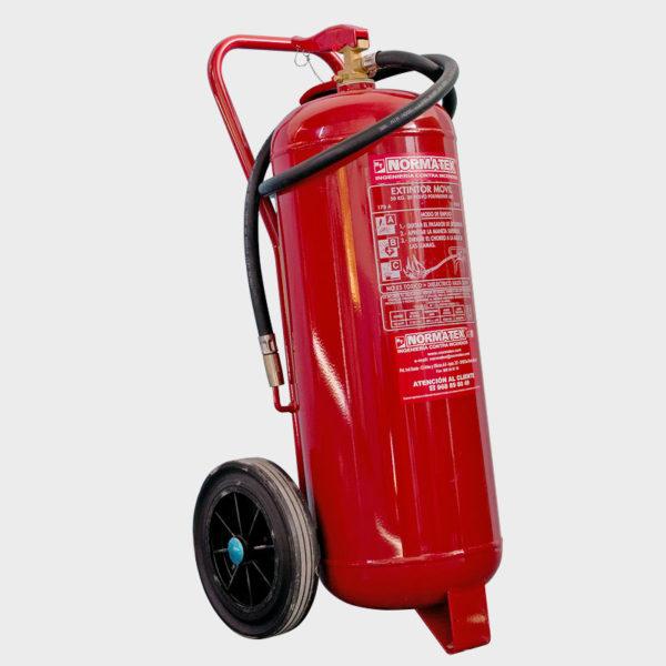 Extintor móvil de carro de 50 kg