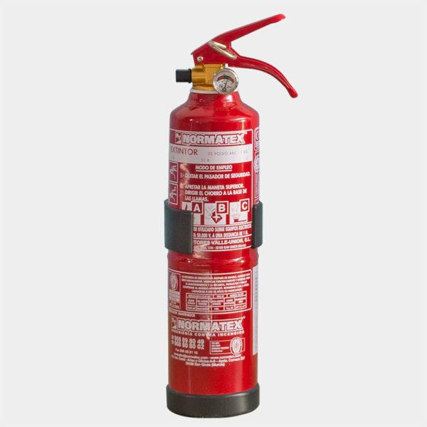 Extintor de polvo ABC de 1 kg