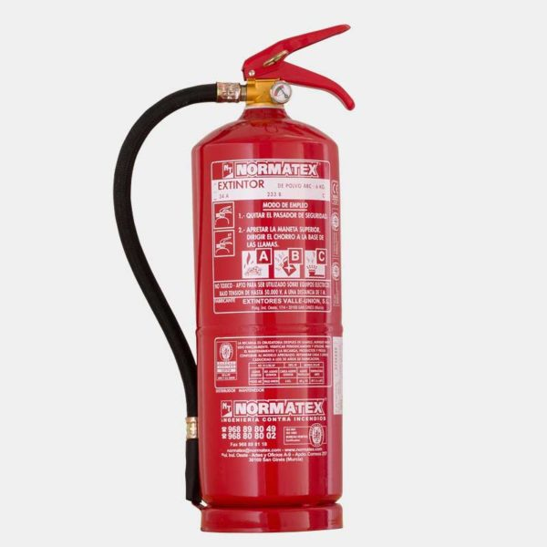 Extintor de 6 kg de polvo ABC de alta eficacia