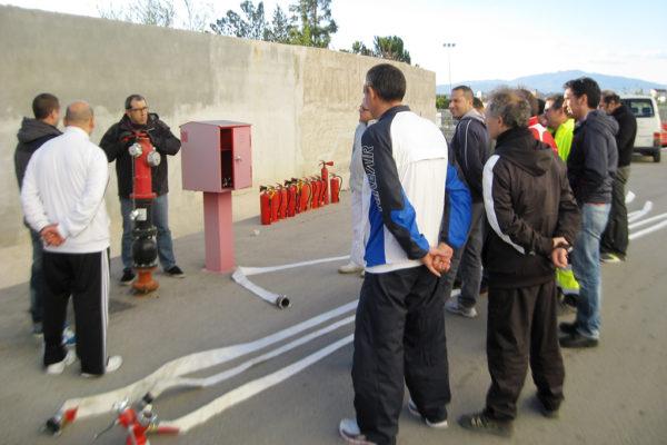 Formación y simulacro incendio