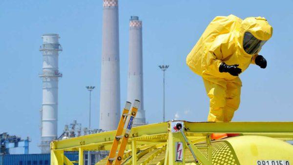 Trabajador en planta química