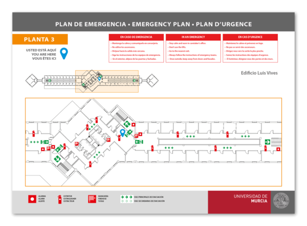 Plano de evacuación