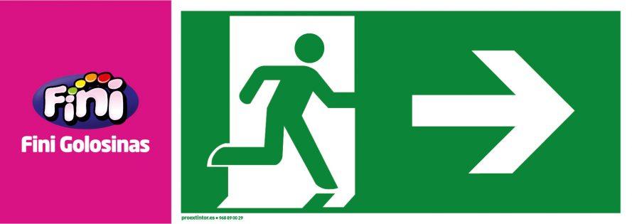 Señal salida emergencia personalizada