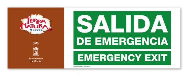 Señal salida de emergencia para exterior de 60 x 21 cm