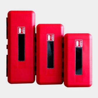 Armarios protectores para extintores en camiones