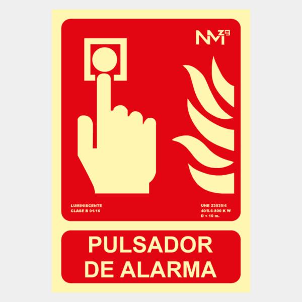 Señal de pulsador de alarma