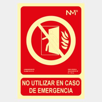 Señal de no usar en emergencia