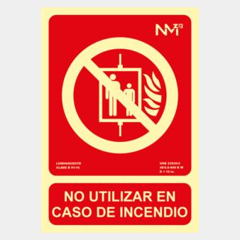 No usar en caso de incendio