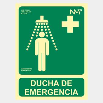 Señal de ducha de emergencia