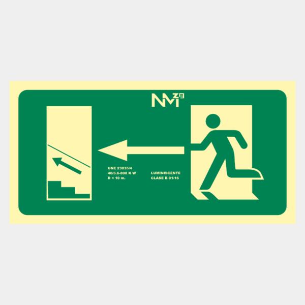 Escalera arriba izquierda