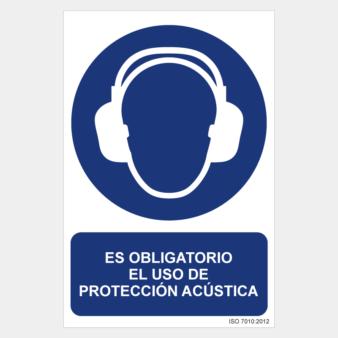 Señal uso obligatorio de protección acústica