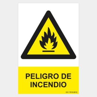 Señal peligro de incendio