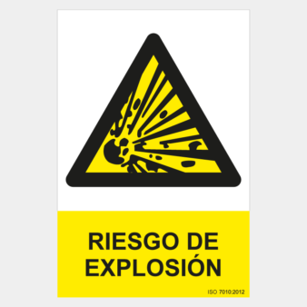 Señal de riesgo de explosión