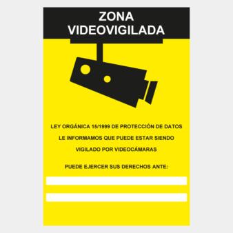 Señal de zona videovigilada