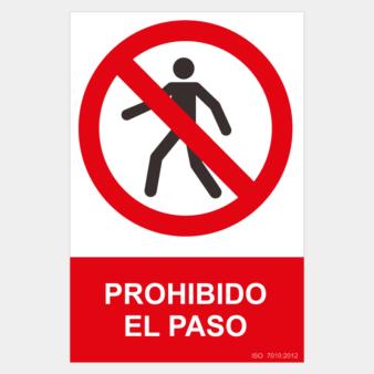Señal de prohibido el paso