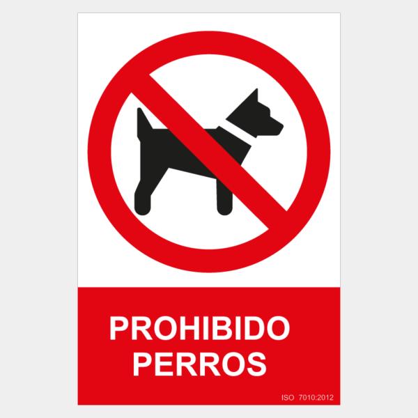 Señal de prohibido perros