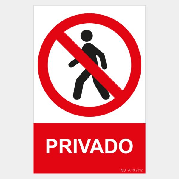 Señal de privado, no pasar
